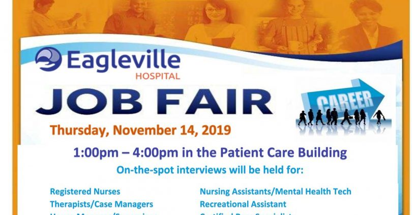 Eagleville Hospital Job Fair