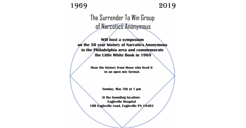 Please Join the Eagleville Hospital Community and Guests as we Honor our Rich History as the 1969 East Coast Founders of Narcotics Anonymous